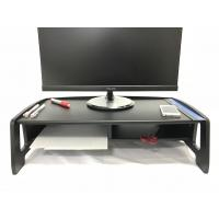 Quality 2 Tiers Computer Monitor Stand , Black Cutouts TV Riser Shelf Saving Space for sale