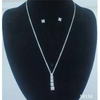 China Custom American Standard Fashion Navel Jewelry Crystal Necklace and Earring Set for Gift wholesale