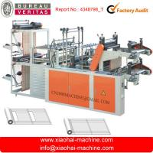 China Two Layer Supermarket Plastic Sack Making Machine Servo Motor Control wholesale