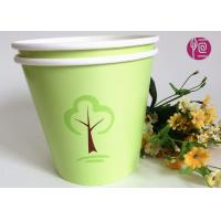 China Green 32oz Custom Flexo Print Round  Paper Container For Plant wholesale