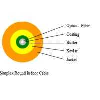 China FTTH Simplex Round Indoor Fiber Optic Cable With Flame Retardant wholesale