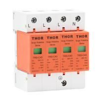 China Power surge voltage protection 40KA house lightning arrester surge protector device wholesale