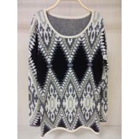 China Computer Knitted Jacquard Sweaters female Knitted Pullover Wool / Acylic wholesale