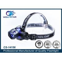 Quality 3W LED PMMA LEN high power LED Head Torch with 3 x AAA batteries for sale