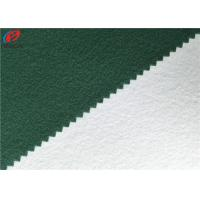 China Polyester Tricot Fleece Fabric Warp Knitting Brushed School Uniform Material wholesale