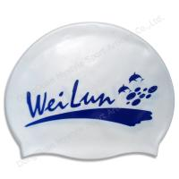 China Fashionable adult swimming caps silicone on sale