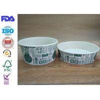 China Disposable Food Grade Paper Salad Bowls For BBQ With FDA Certification wholesale