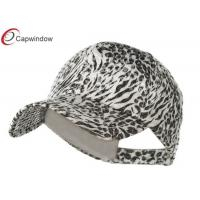 China White Animal Print Sequin Fitted Baseball Hats with Polyester Velcro Closure wholesale