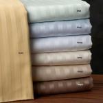 China Cotton Stripe 600 Thread Count Sheet Set wholesale
