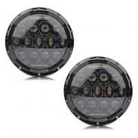 China High Performance 6000K 80W / 2pcs Jeep Wrangler Led Headlights IP68 For Jeeps wholesale