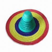 China Straw Hat, Available in Various Designs, Made of Natural Bamboo Grass wholesale