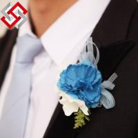 China Artificial Faux Silk Foam Material Flower Head Brooch Corsage on sale