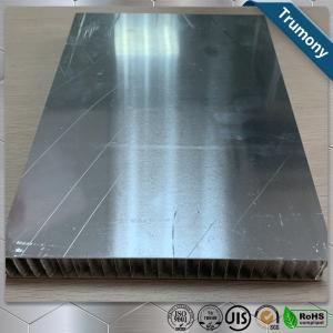 China Surface Brushed Aluminum Honeycomb Panels For Interior Exterior Wall Decoration wholesale