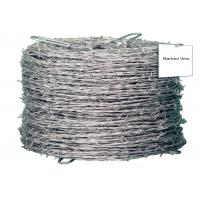 Buy cheap Galvanized High Tensile Barbed Wire Sharp Q195 4 Strand Barbed Wire Fence from wholesalers