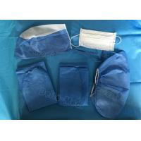 Quality Dark Blue Disposable Protective Apparel , Disposable Scrub Suits With Shirt / Pants for sale