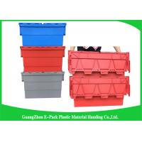 China Red Plastic Attached Lid Containers / 43L Plastic Storage Bins wholesale