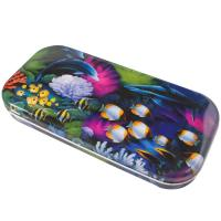 China Painted Square Pencil Tin Box Canister For Eraser / Pen / Knife wholesale