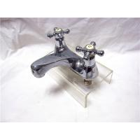 Quality Chrome Plated Kitchen Pull Out Faucet / 2 Hole Kitchen Taps For Hot & Cold Water for sale