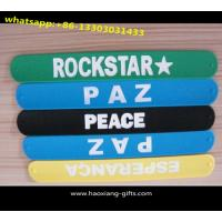 China 22x3cm eco-friendly kids funny promotional full color slap bracelet wholesale wholesale