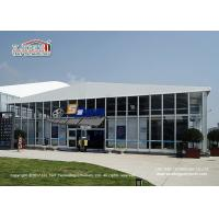 China Two Storey  Double Decker Tents Exhibit Structures With Glass Walls For Cinema wholesale