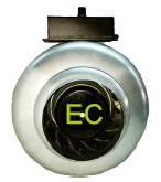 China 100mm EC Circular Duct Fan , High Speed Inline Duct Exhaust Fan wholesale