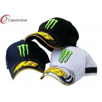 China Customize Flat Brim Racing Baseball Caps Mesh With Sandwich Peak wholesale