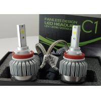 China 6000 Lumen 12 Volt LED Headlight Bulbs H8 / H9 / H11 COB Fanless 6000K wholesale