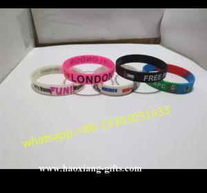 China Promotional  All knids of Customized silicone wristband/ bracelet wholesale