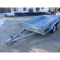 China 10x5 Hot Dipped Galvanized Tandem Trailer 3200KG With Mechanical Disk Brakes wholesale