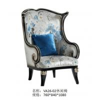 China Villa house luxury furniture of Leisure sofa chairs in Fabric upholstered by Glossy painting Beech wood frame on sale