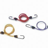 China Assorted Rubber Bungee Cord with Plated Snap Hook, Available in Various Sizes wholesale