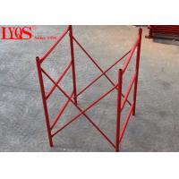 China Construction Support H Frame Scaffolding 4 Inch Width For Heavy Duty Shoring wholesale