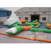 China Commercial Inflatable Floating Water Games Park Amusement Green White wholesale