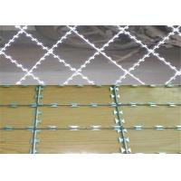 China BTO -22 Razor Barbed Wire With Post For Wire Mesh Fencing wholesale