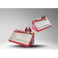 China Corrugated Cardboard Counter Display Boxes With Glossy For Rerail wholesale