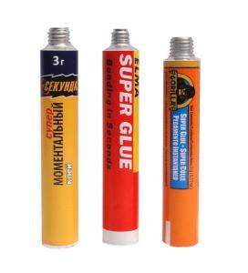 China 4C Color Collapsible Aluminium Tubes For Cosmetics / Medicine / Bottom Latex , Aluminum Squeeze Tubes wholesale
