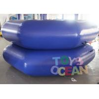 China DIA 3M Dark Blue Inflatable Water Game Inflatable Floating Water Trampoline wholesale