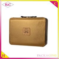 China Handmade luxury pu leather liquor bottle box with handle wholesale