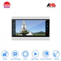 China Fashional 4 wired AHD video door phone with door release support watching movies and motion detection wholesale