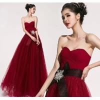 China Custom Chiffon Sexy Sweetheart neckline party dresses for Prom , Red wholesale