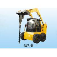 China Multi - Function Auger Implement Loader Skid Steer With Auger Rated Load 1050 Kg wholesale