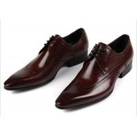OEM Custom Classic Men Brogue Shoes Black / Brown Coffee Carved Floral Oxford Shoes