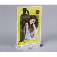 China acrylic products manufacture supplies A4 size Acrylic tabletop display stand on sale