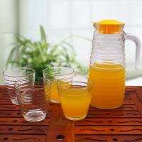 China 1000ml Glass Water Kettle Set Glass Juice Container Big Capacity LW-K12 wholesale