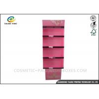 China Cosmetic POP Cardboard Display Stands Floorstanding For Skincare Products wholesale