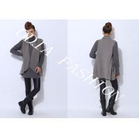 China Long Black and Grey V Neck Sweaters With long sleeve in Hips Loose Style wholesale