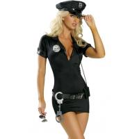 China High Quality Halloween Sexy Police Costumes Hot Pursuit Cop Costume for Party Adult wholesale