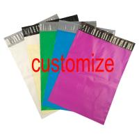 China Custom Logo Print Poly Mailer Colored Courier Express Bags PE Material Self Sealing wholesale