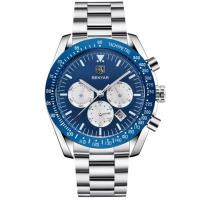 Buy cheap Wholesale Fashion Men Multifunction Chronograph Silica Gel Band Waterproof 30m from wholesalers