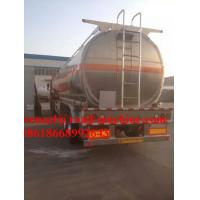 China 37m³  32Ton Chemistry liquid Semi Truck Trailer 24000KG / Unit on sale